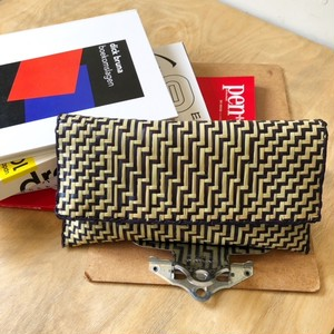 ZIG ZAG Pouch ポーチ From Africa/ Black