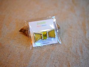針金細工ateliersaono 大野さをり puzzle ribbon brooch(イエローA)
