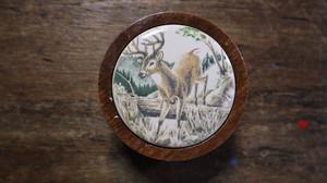 Wood & ceramic Box : Avon