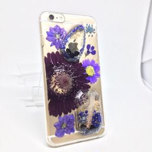 ラピスラズリとガーベラの オルゴナイト iPhone6Plusケース