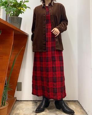 BLAIR corduroy cotton shirt  brown【M】
