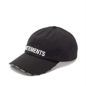 VETEMENTS LOGO CAP キャップ / BLACK / 2019AW