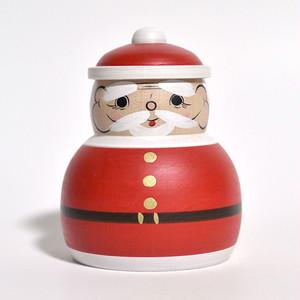 クリスマスこけし(サンタクロース) 約2.5寸 約7.8cm 平賀輝幸 工人(作並系)#0139
