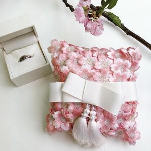 桜刺繍 リングピロー × アロマミスト