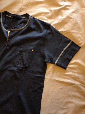 Classic Henley Neck Tops(Re made in tokyo japan)