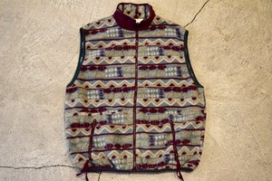 USED  90s Columbia Fleece vest made in USA -W-Large V0655