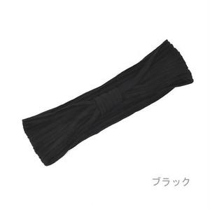 【ヘアバンド・ターバン】プリーツリボン型ターバン