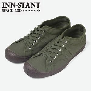 #114 CANVAS SHOES khaki/khaki (brown sole)  INN-STANT インスタント 【消費税込・送料無料】