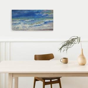 素敵なアートパネル Sea Scape ルノアール 300×700 引っ掛け金具付