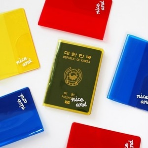 2nul(5500)透明クリア パスポート ケース clear color passport cover