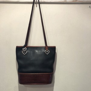 """Brighton"" heart concho leather shoulder bag.(b112)"