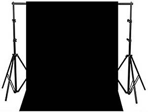 厚いので透けにくくしわになりにくい写真撮影用厚地背景布(200×300)黒youtei
