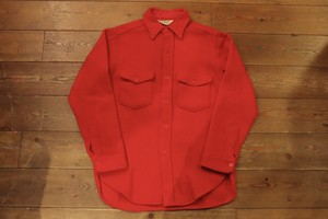 USED USA製  L.L.Bean ウールシャツ レッド系 M  80s ビンテージ