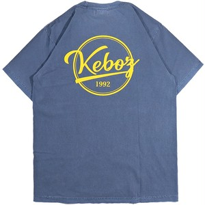 CRACK BB LOGO HEAVY WEIGHT GARMENT DYE S/S TEE(WASHED BLUE)