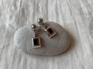 <vintage silver925>square dangle pierce