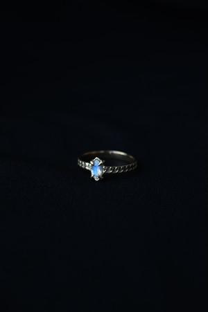 K18 Blue Moonstone Oriental Design Ring 18金ブルームーンストーンオリエンタルリング