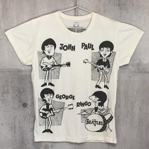 【送料無料 / ロック バンド Tシャツ】 THE BEATLES / Illustration Men's T-shirts Ivory M ザ・ビートルズ / イラスト メンズ Tシャツ アイボリー M