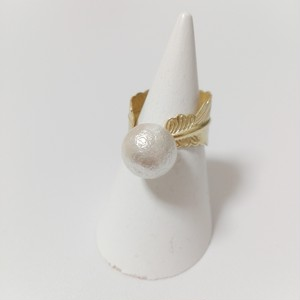 feather pearl ring (large)