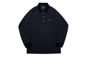 WHIMSY / SEERSUCKER POLO -NAVY-