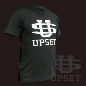 [定番品]UPSETBIGロゴコットンTシャツ BLACK