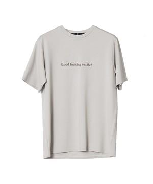 Skeptical Embroidery Crewneck T-shirts Light Beige