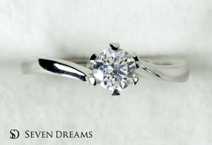 プラチナ婚約指輪 6ポイント・ツイストエンゲージリング