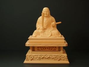 木彫り 本尊 ◆ 日蓮聖人 2.5寸
