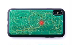 FLASH 東京回路線図 iPhone XS Maxケース 緑【東京回路線図ピンズをプレゼント】