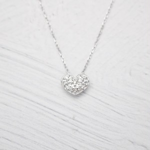 Heart Motif Necklace 0.05ct | K18WG
