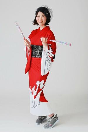 2019カープ浴衣 iki-粋-(赤白) レディースS~L 背番号なし ポリエステル100% 仕立て上がり 納期約3週間