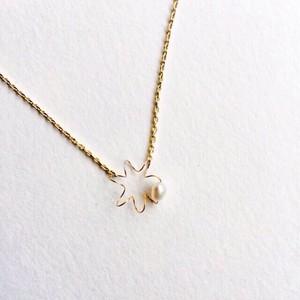 ヴァイオリン弦のふるふるプチネックレス  Violin E string necklace with pearl ♫ヴァイオリン