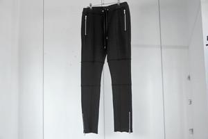 ASKYY / ZIP SWEAT PANTS / BLK