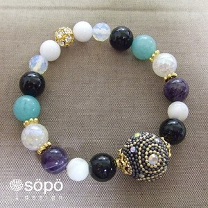 【new!】068. power stone jewelry bracelet -black-