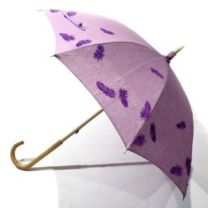 hane ふわふわ刺繍日傘 ライラック×ムラサキ 43㎝