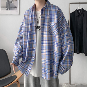 オーバーサイズチェックシャツ M-XL