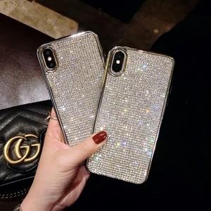 【送料無料】スマホケース iphone5 iphone5plus シルバー キラキラ ラインストーン ソフトケース ラグジュアリー