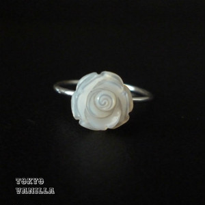 White Roseのリング - silver -