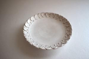野田里美|銀花皿 丸 輪花