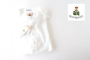 ギローバー|GUY ROVER|スタンドカラーリネンコットンシャツ|46|ホワイト
