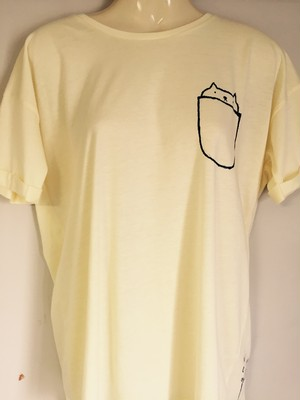 描いたポケ猫女子的Tシャツ