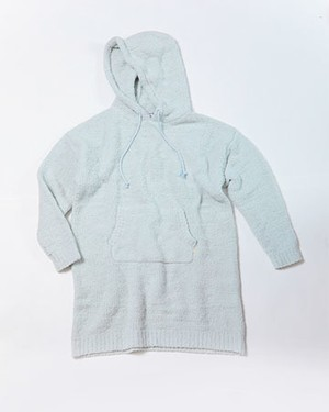 THE ULTIMATE COZY HOODED TUNIC/LT GREY HEATHER