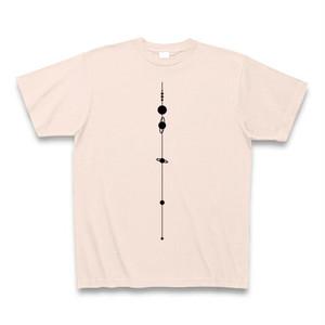 【天文学】太陽系Tシャツ(SolarSystem/LightPink)