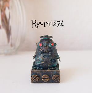 【液体の街】ポストペンギンロボ(モニター用フィギュア)真鍮サビつき
