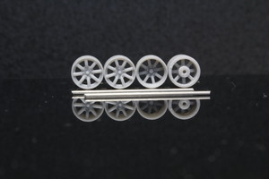 7mm 8本スポーク 4穴 5穴 タイプ 3Dプリント ホイール 1/64 未塗装