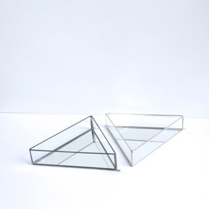 Triangle mirror / black,silver