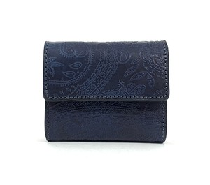 RE.ACT Paisley Indigo Three Fold Compact Wallet
