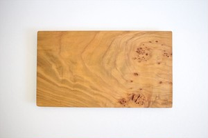 松下由典|木のトレー長方形(Ⅿ)桜材・節あり