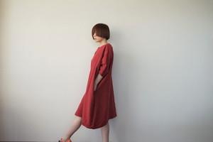 リネンロングトップス(赤)