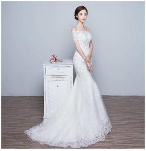 パーティードレス マーメイドライン エレガント プリンセス ウェディングドレス 結婚式 二次会 刺しゅう お呼ばれ フォーマル ワンピース ワンピドレス