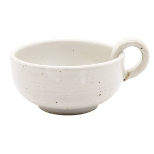 萬古焼 藍窯 スープカップ 320ml 「エスタ Esta」 赤土ホワイト AGM-200101
